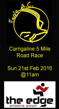 Carrigaline 5 mile road race...Sun 21st Feb 2016