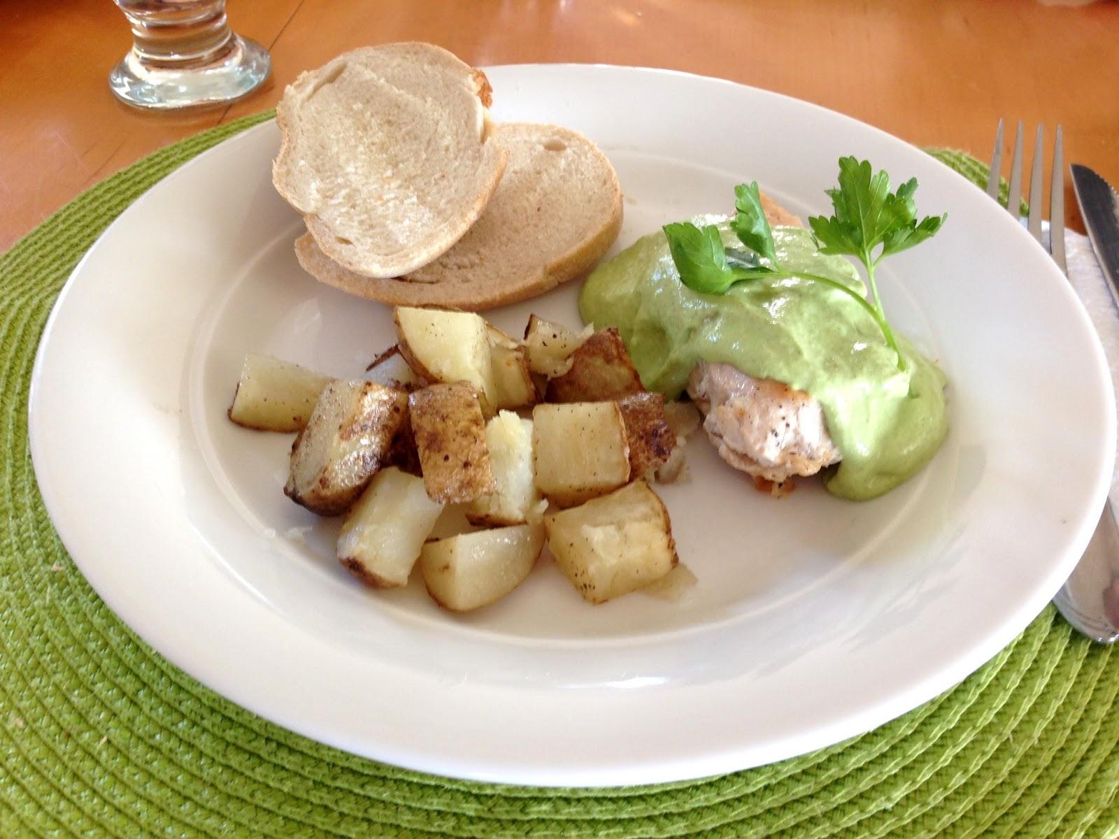 Km cocina pollo con crema de perejil for Cocina 5 ingredientes jamie