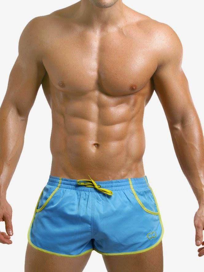 2Eros Icon Shorts Candy Sky Blue Yellow Zyzz Shorts Gayrado