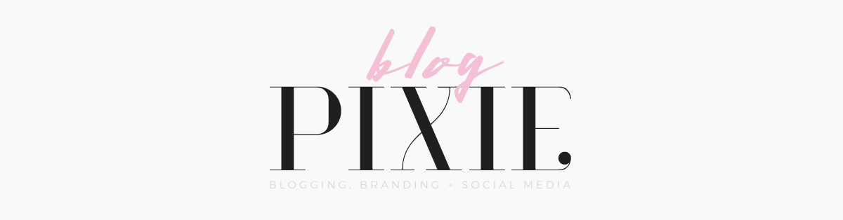 Blog Pixie | Blog Design, Branding + Social Media