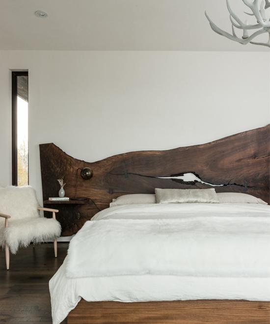 Letto il fascino del legno grezzo - Spalliere da letto ...