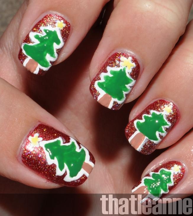 Thatleanne Chococat Nail Art: Thatleanne: Simple Holiday Nail Art Ideas Feat. Butter