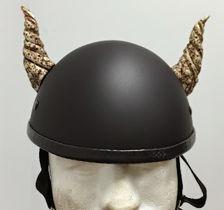Motorcycle Helmet Bull Horns