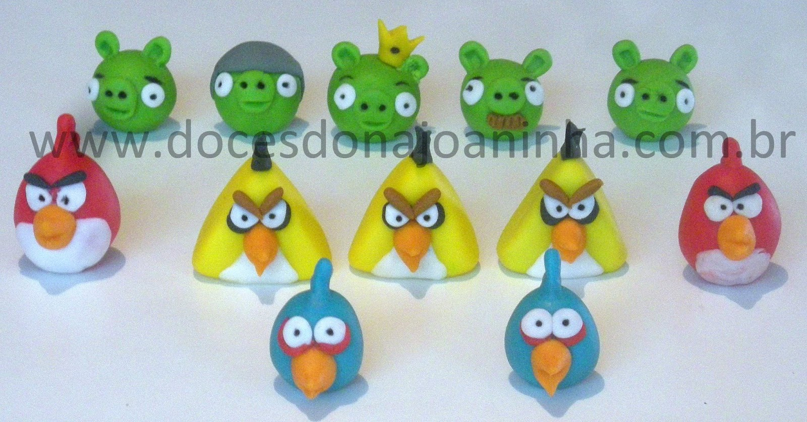 Doces modelados Angry Birds