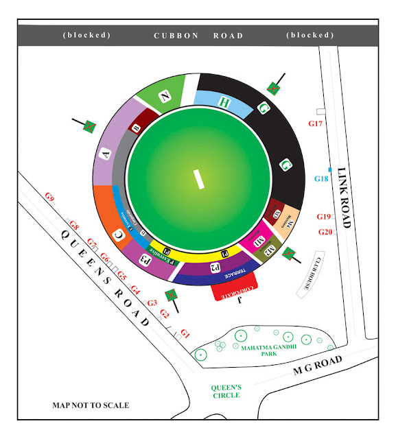 M. Chinnaswamy Stadium, Bengaluru, Stadium Layout