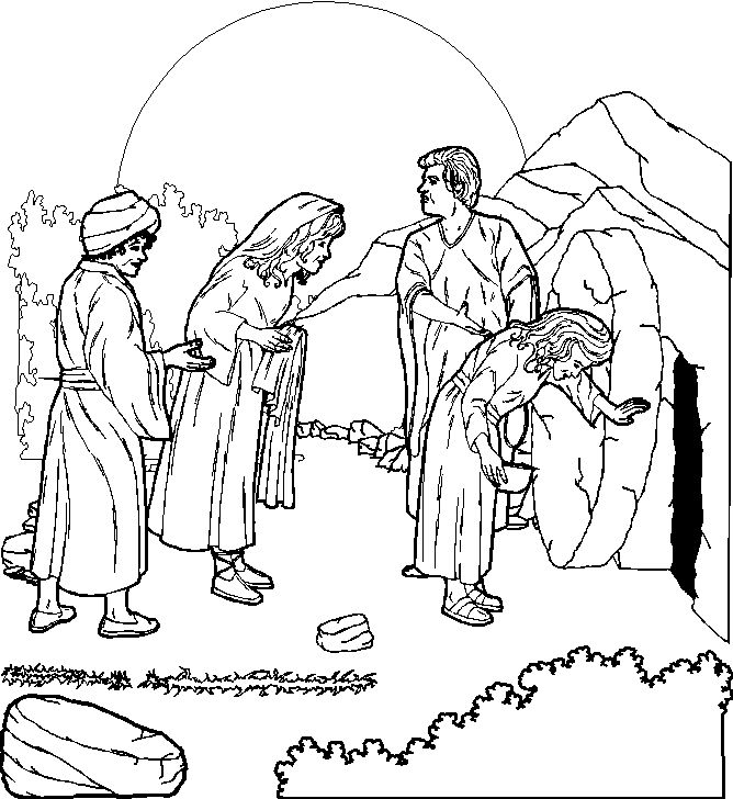 Jesus Christ Resurrection Pictures Coloring Pages