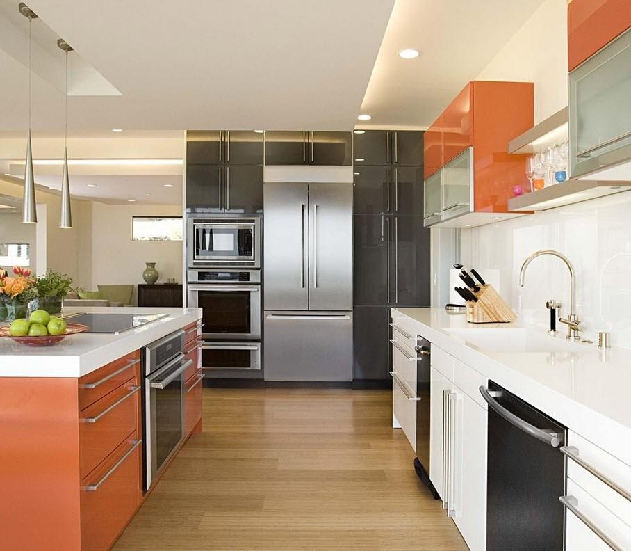 How to choose the kitchen design with refrigerator | Czytamwwannie\'s