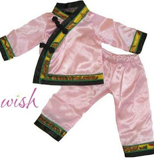 mandarin doll pajamas chinese doll clothing