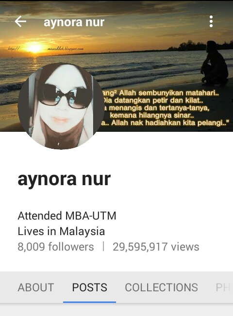 Google Plus Aynora Nur Ada Lebih 8000 Follower