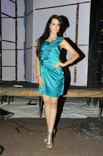 Actress Deeksha Panth  Picture Gallery in Silk Short Dress at Billa Ranga Audio Launch  0061.jpg
