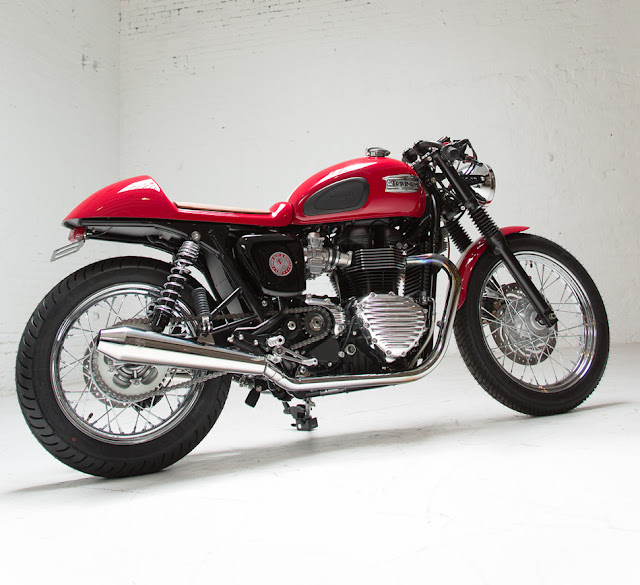 2013 Triumph Bonneville Cafe Racer Give Away | Chance to win a Triumph Bonneville Cafe Racer by Dime city cycles | Iorn and Air Magazine | Triumph motorcycles | Wellspring Foundation