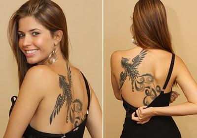 Imagens de Tatuagens de Fênix nas Costas