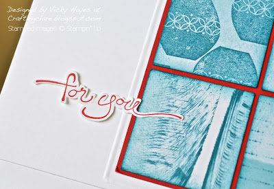 Fussy cut sentiment using A Word For You by Stampin' Up