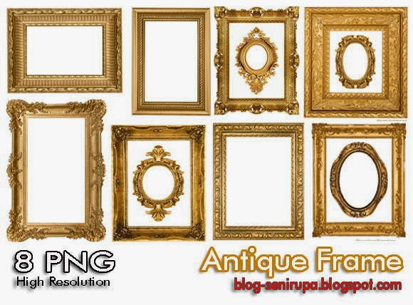 Antique Frame Set 01 High Resolution