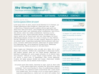 Sky Simple Theme Blogger Template