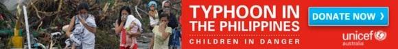 unicef.org.au/typhoon || Philippines appeal