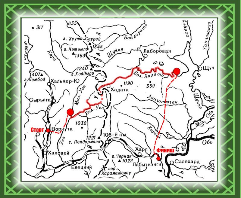 карта-схема · карта маршрута