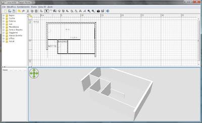 Prove di progettazione con sweethome 3d for Programma per disegnare interni