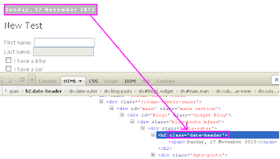 how to use teh element in xpath