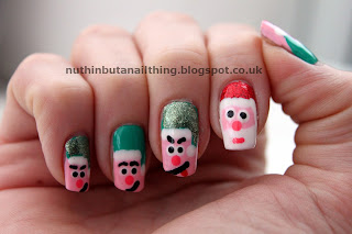 Santa and Elves nails
