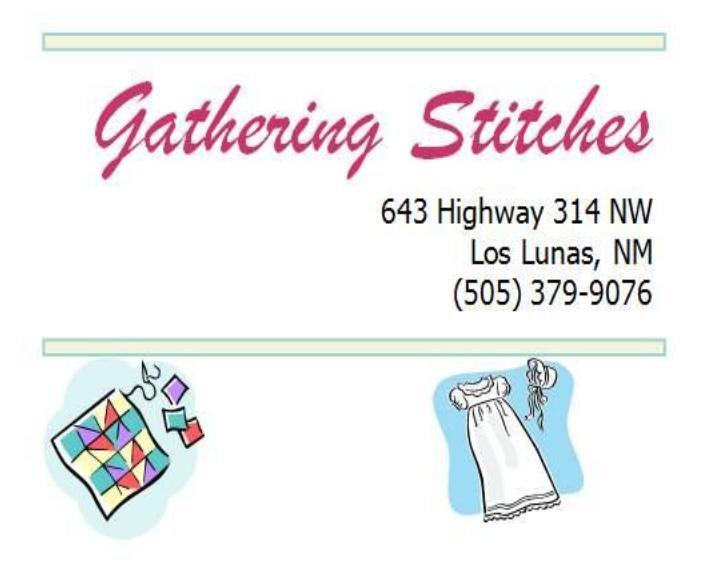 Gathering Stitches
