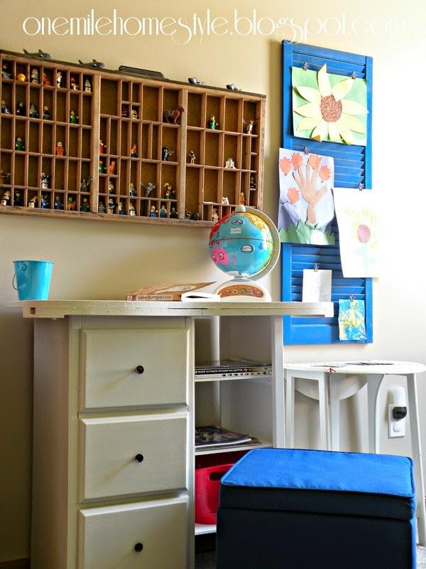 Vintage Desk Makeover for Kid's Room