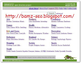 Cara Submit Blog Ke DMOZ