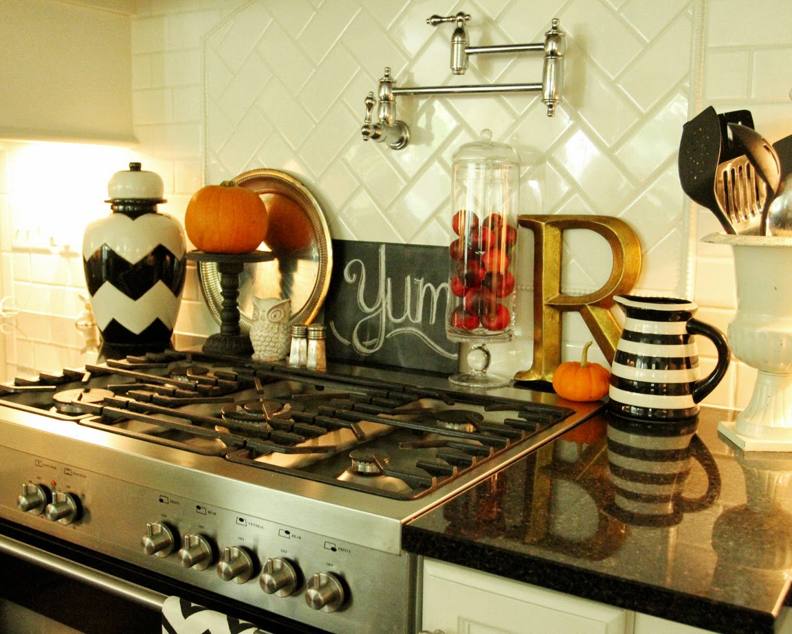 my fall kitchen decor and a free fall chalkboard printable - Fall Kitchen Decorating Ideas
