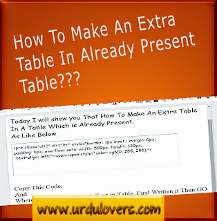 How to Easily Create Tables in Blogger, How to Insert table in Blog posts, Make Colorful Tables in BlogSpot
