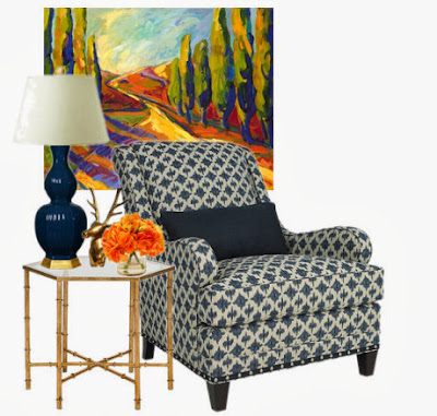 decor trends 2014 navy and gold