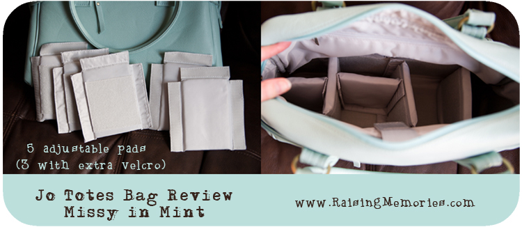 5 Adjustable Pads for Jo Totes Missy bag ( Review by www.RaisingMemories.com )