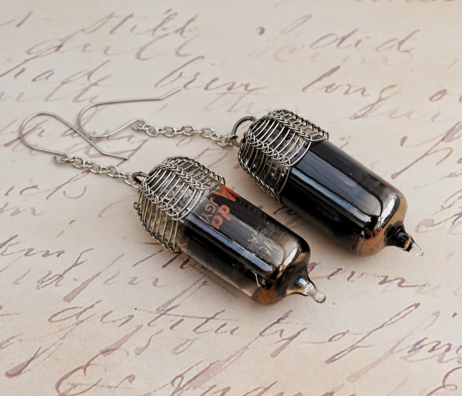 steampunk vacuum tube jewelry jewellry science geek history