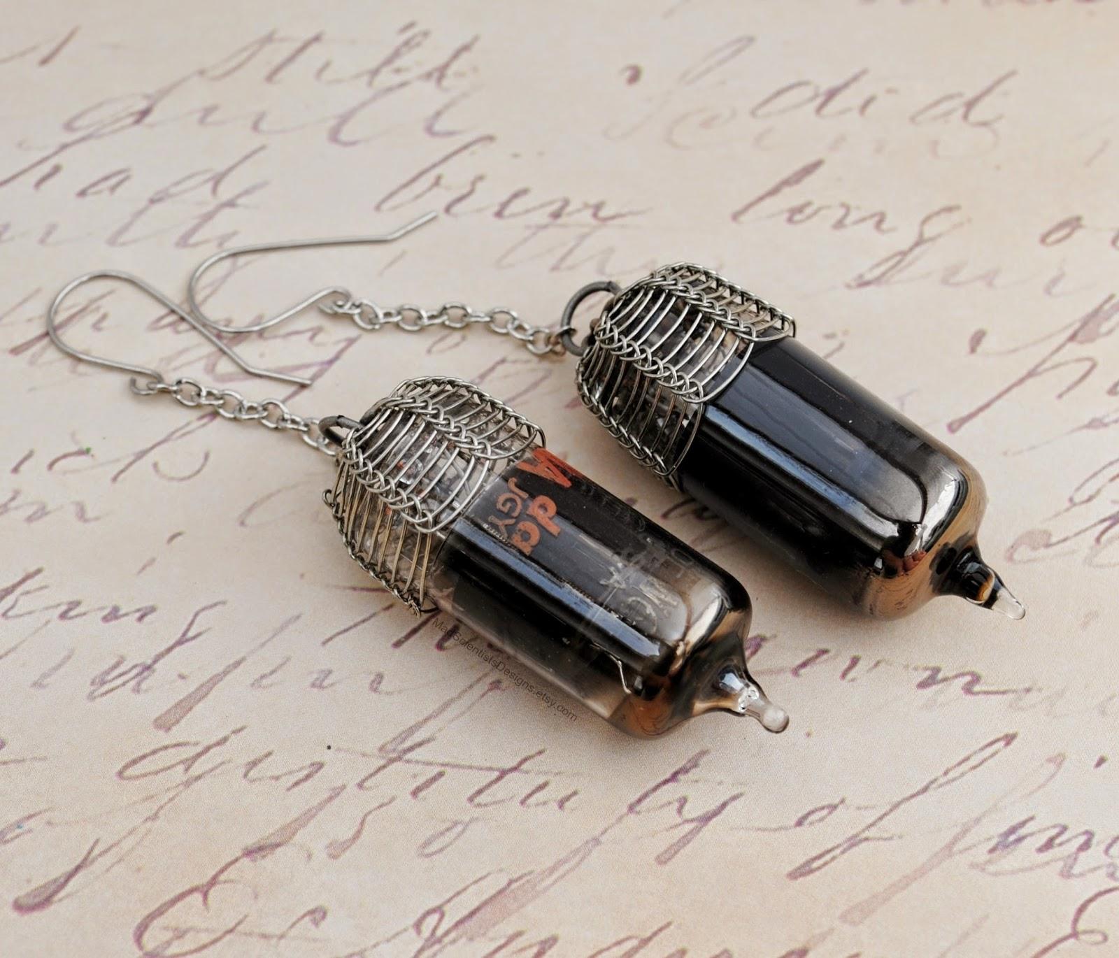 steampunk vacuum tube jewelry jewellry science geek history