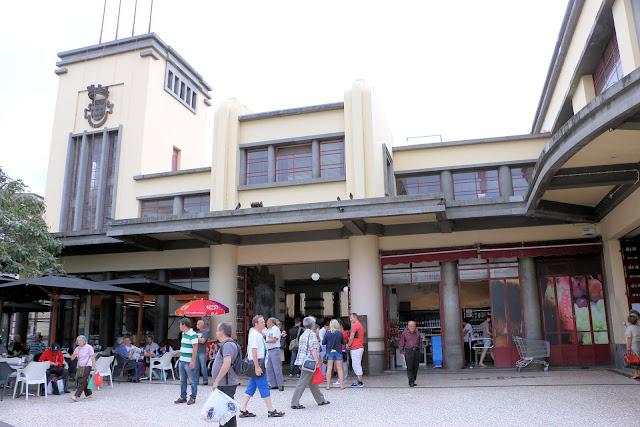 Eingang zum Mercado dos Lavradores, Funchal, Madeira Portugal