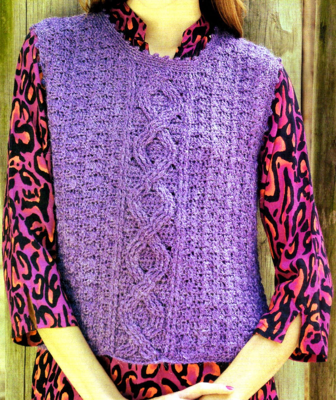 chaleco tejido en crochet