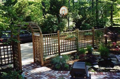 Basketball Hoop Driveway Landscape