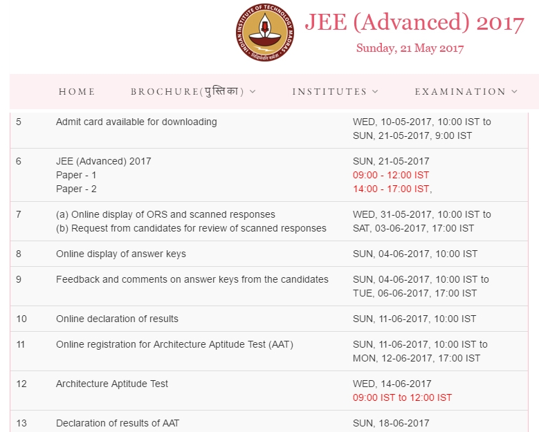 advanced admit card