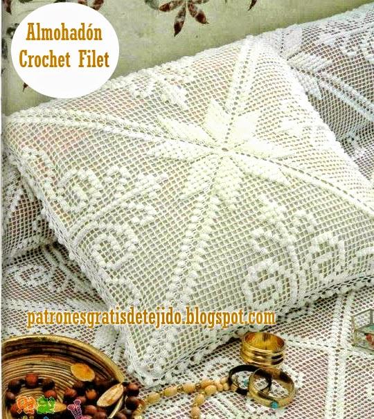 Patrones de crochet filet para armar cuadros, almohadones