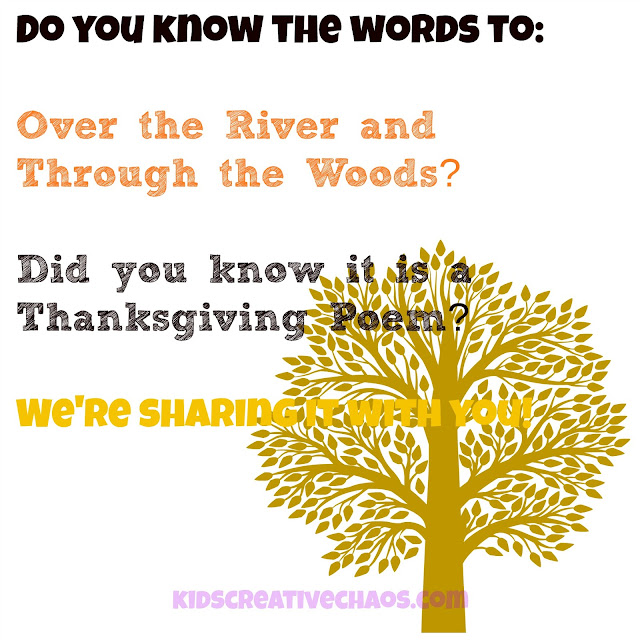 Over The River and Through the Woods Poem for Thanksgiving