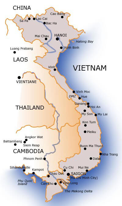 Soft image with printable map of vietnam