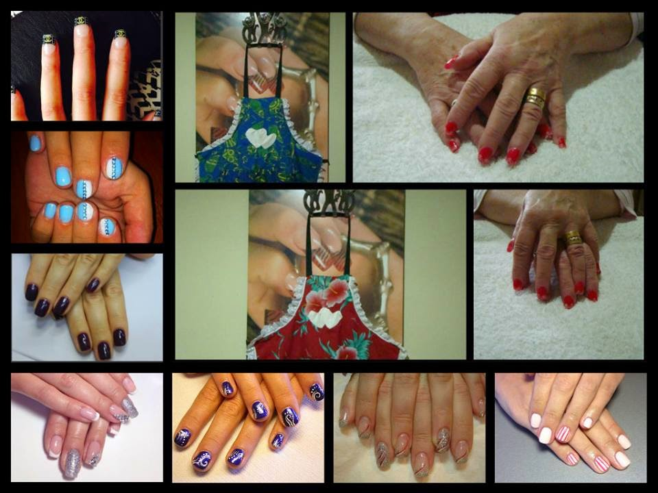 Natural-acrylics-Shellac-Hollywood-Red-Gold-Chrome-manicure-and-lace-decals-and-stamping-white-acrylics-Shellac-LED-foils-glitz-and-crystals