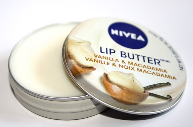 nivea lip butter in vanilla and macadamia