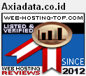 AXIADATA Hosting Terbaik Indonesia,AXIADATA Top 100 Web Hosting Rating