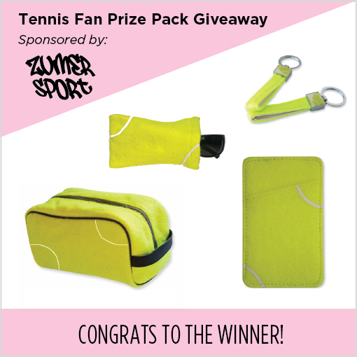 Tennis fan giveaway