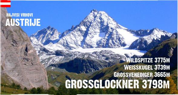 Najviši vrhovi Austrije - planinarenje