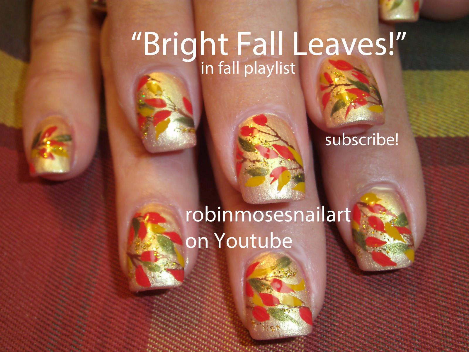 Autumn Nail Art ~ Autumn Posters Picture