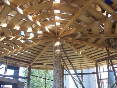 Стропильная система для круглого каркасного дома