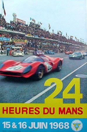 Affiche officielle des 24 Heures du Mans 1968
