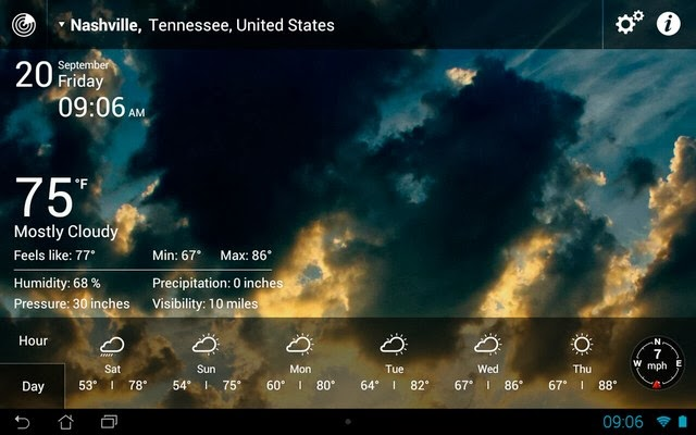 Weather Live app screenshoot