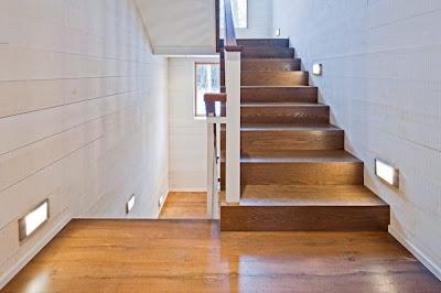 diseño escalera iluminada